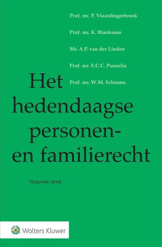 ,Het hedendaagse personen- en familierecht
