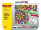 ,kleurpotloden Eberhard Faber Classic metaaletui a 48 stuks