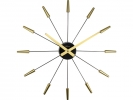 ,Wandklok NeXtime dia. 58 cm, plastic, goud, `Plug Inn`