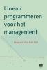 <b>Jacques van der Elst</b>,Lineair programmeren voor het management