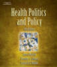 Morone, James A Health Politics and Policy