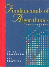 Gilles Brassard,   Paul Bratley Fundamentals of Algorithmics