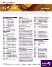 American Medical Association CPT 2017 Express Reference Coding Card Radiology