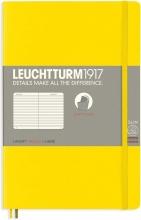 Lt358302 , Leuchtturm notitieboek softcover 19x12.5 cm lijn lemeon geel