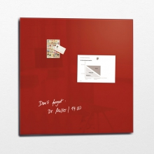 , glasmagneetbord XL Sigel Artverum 1000x1000x18mm rood