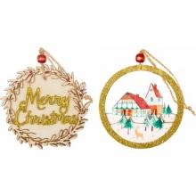, Houten kerst hanger ass