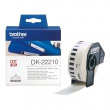 , Etiket Brother DK-22210 29mm thermisch 30-meter wit papier