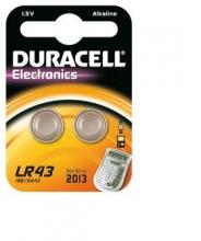 , Batterij Duracell knoopcel 2xLR43 alkaline Ø11,6mm 2 stuks