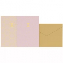 , Greeting cards gold fever paste 8 kaarten met envelop
