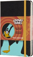 , Moleskine LE Notitieboek Looney Tunes Pocket (9x14 cm) Gelinieerd Daffy Duck
