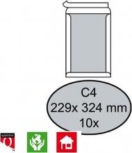 , Envelop Quantore bordrug C4 229x324mm zelfkl. wit 10stuks