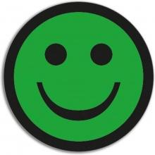 , Magneet smiley 50mm emotie blij groen