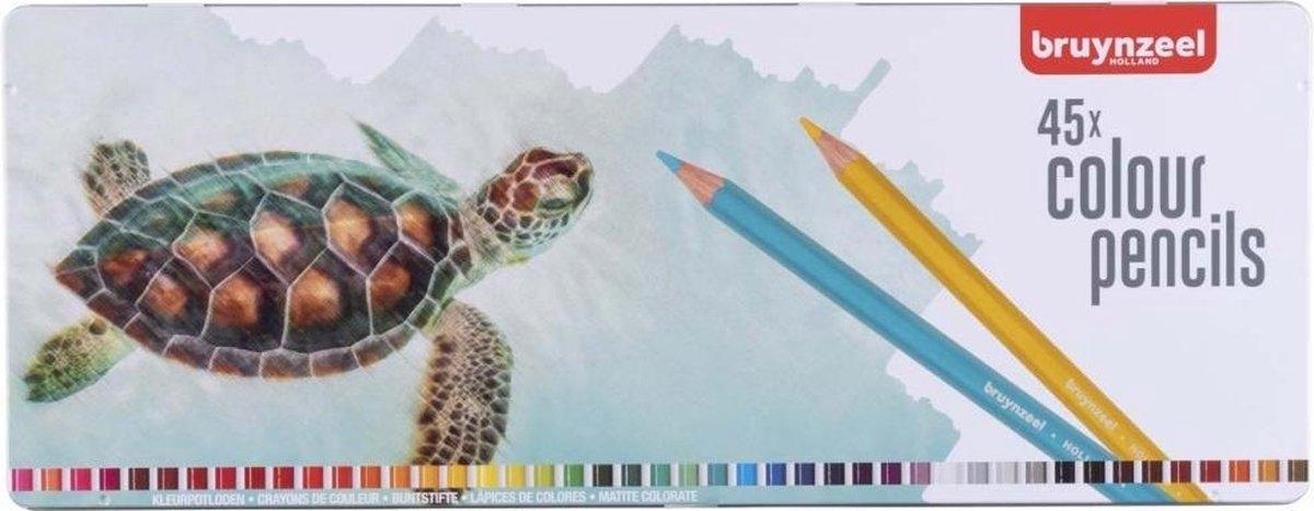 ,Kleurpotlood bruynzeel schildpad 5011 in blik