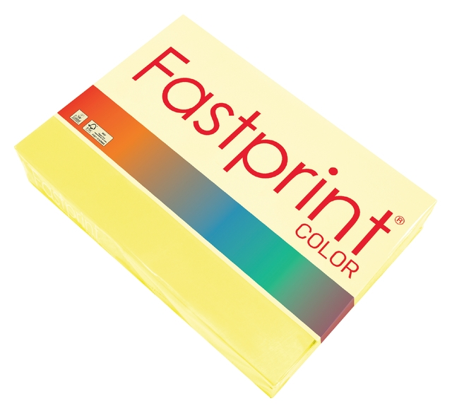 ,Kopieerpapier Fastprint A4 80gr zwavelgeel 500vel
