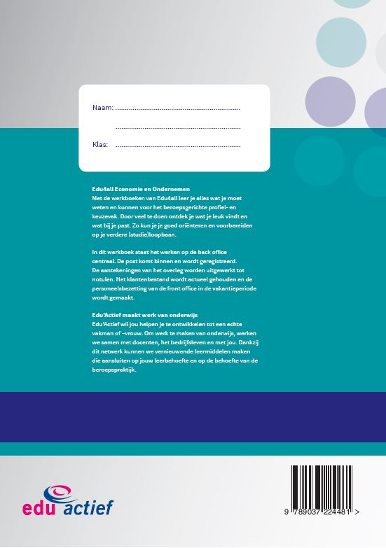 Angela van Oeffelen,Werken op het secretariaat Werkboek Module secretarieel