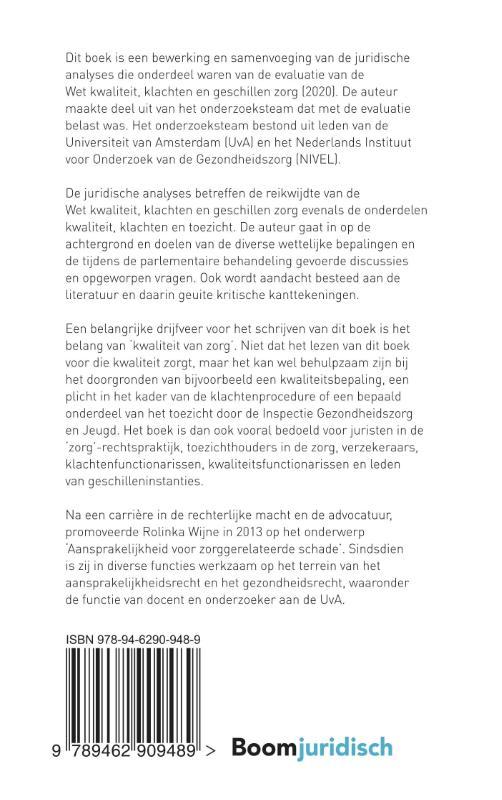 R.P. Wijne,De wet kwaliteit, klachten en geschillen zorg