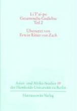 Li T`ai-po - Gesammelte Gedichte Teil 2