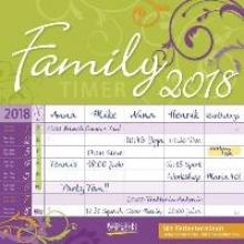 Family Timer Floral 2018 Broschürenkalender