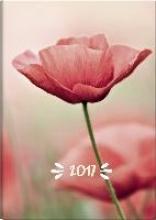 Buchkalender Mohn 2017. 2 Seiten = 1 Woche, 148 x 205 mm