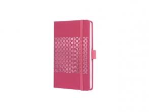 , Notitieboek Sigel Jolie Impress A6 lijn Peacock Pink