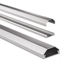 , Kabelkanaal Hama hoekig 110/3,3/1,7 cm aluminium zilver