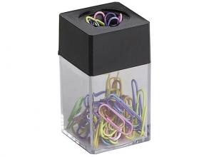 , paperclips Alco 42x42x70mm hoekig magnetisch zwart doos a   10 box
