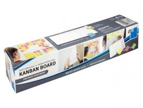 , zelfklevende Kanban planner 8 vel van 30x50,8cm incl 3 blok sticky notes