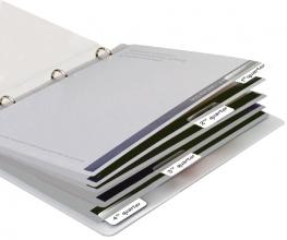 , Indextabs 3L 10513 12x40mm zelfklevend wit