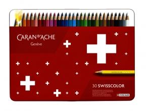 , Kleurpotloden Caran d`Ache Swisscolor 30stuks ass
