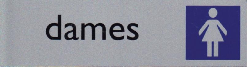 , Infobord pictogram dames 165x44mm