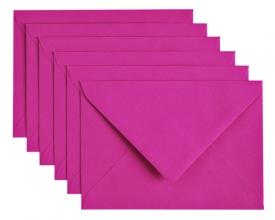, Envelop Papicolor C6 114x162mm felroze