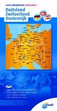 ANWB ANWB wegenkaart Duitsland 1 Duitsland/Zwitserland/Oostenrijk