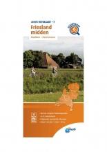 ANWB , Fietskaart Friesland midden 1:66.666