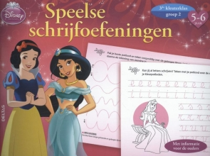 Disney speelse schrijfoefeningen Prinsessen 5-6 jaar, groep 2