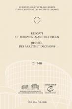 , Reports of judgments and decisions recueil des arrets et decicions 2012-III