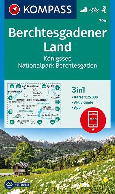 ,Berchtesgadener Land, Königssee, Nationalpark Berchtesgaden 1 : 25 000
