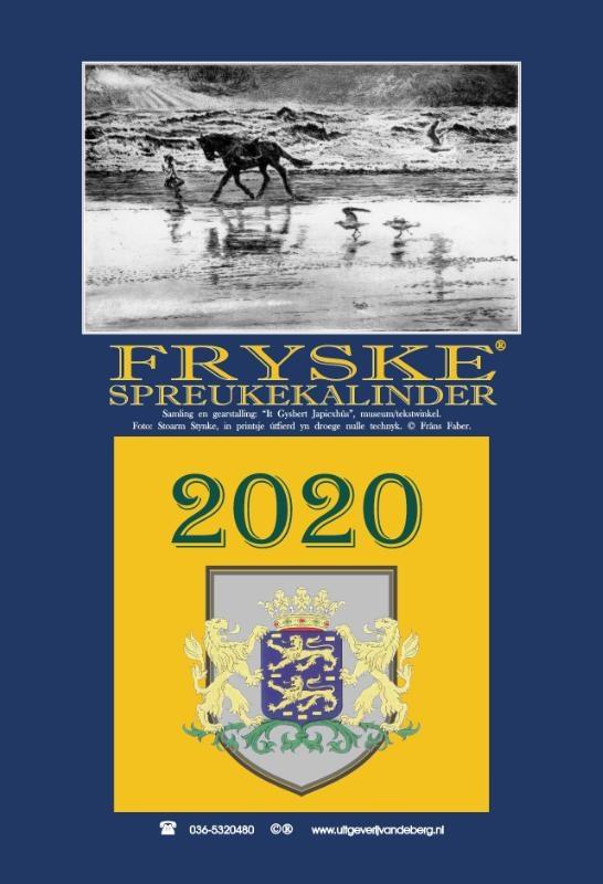 It Gysbert Japicxhûs,Fryske spreukekalinder 2020