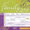 ,Family Timer Floral 2018 Brosch�renkalender