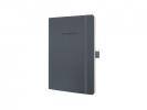 ,notitieboek Sigel Conceptum Pure softcover A5 donkergrijs   gelinieerd