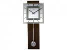 ,Wandklok NeXtime 32 x 80 cm, melkglas & hout, `Retro        Pendulum` Radio Controlled