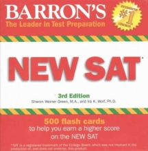 Green, Sharon Weiner, M.a.,   Wolf, Ira K., Ph.D. Barron`s New SAT Flash Cards