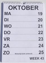 , Grootletter weekkalender 2021 uitgeverij tom