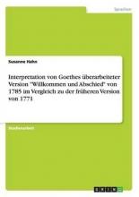 Hahn, Susanne Interpretation von Goethes �berarbeiteter Version