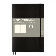 Lt358292 , Leuchtturm notitieboek softcover 19x12.5 cm blanco zwart