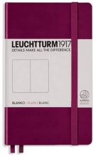 , Leuchtturm notitieboek pocket 90x150 blanco port (rood)