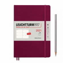 Lt362049 , Leuchtturm weekagenda 2021 a5 soft cover 7d2p port red