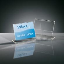 , info/prijsstandaard Sigel A8 dwars transparant acryl doos a 10 stuks
