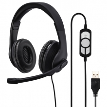 , USB Hoofdtelefoon Hama HS-USB300 over-ear zwart