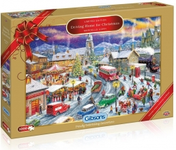 Driving home for christmas - marcello corti - gibsons puzzel 1000
