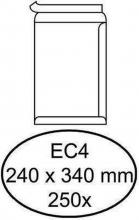 , Envelop akte 250x350mm zelfklevend 90gr bruin 250stuks